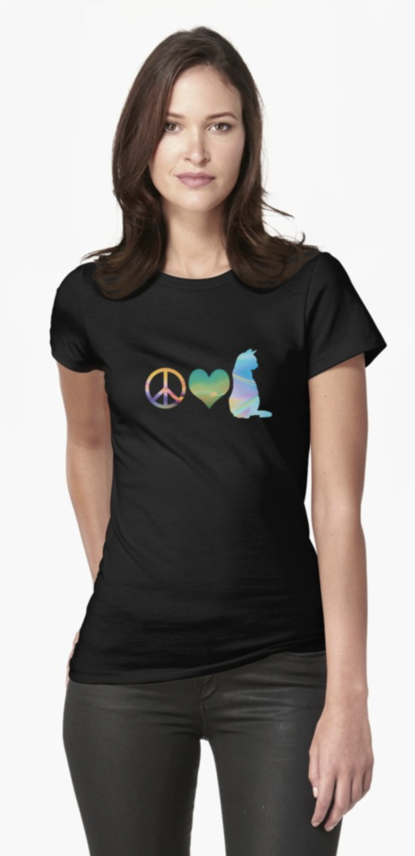 Peace, Love & Cats Women's Tee Shirt