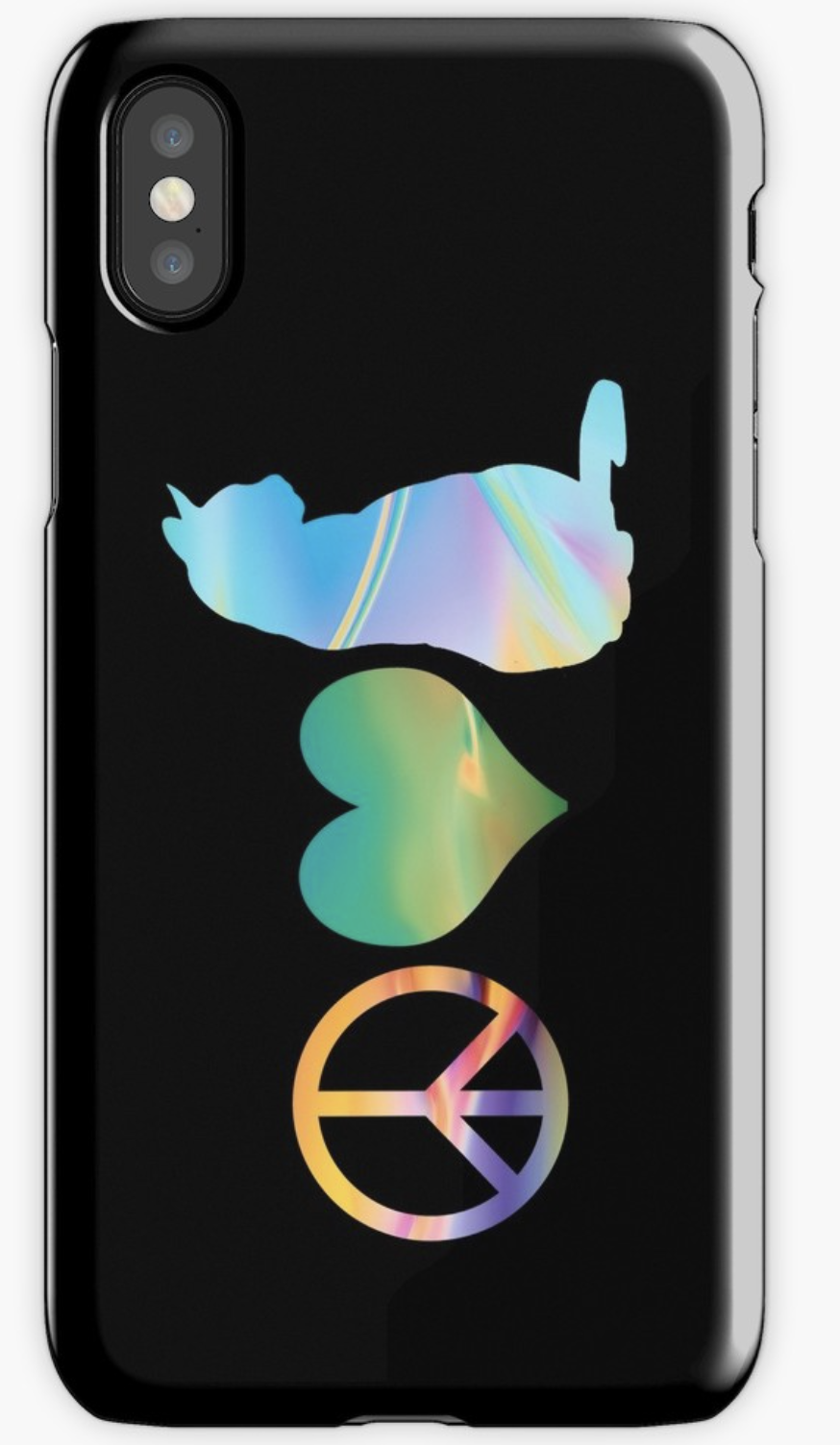Peace, Love & Cats iPhone Skin