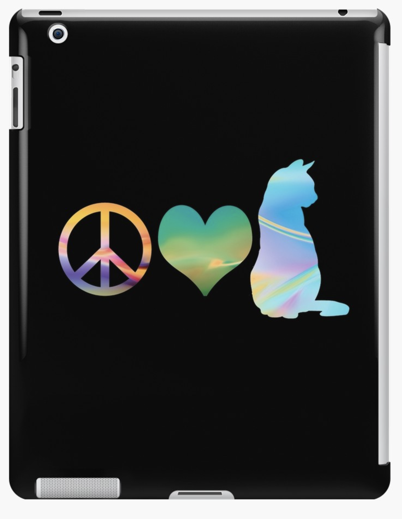 Peace Love & Cats iPad Sleeve