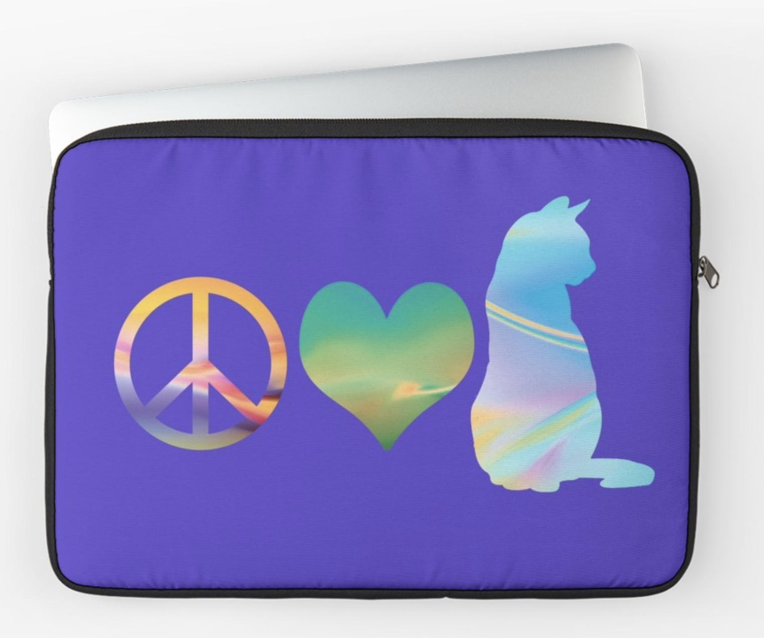 Peace Love & Cats Laptop Sleeve