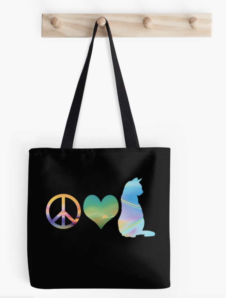 Peace Love & Cats Tote