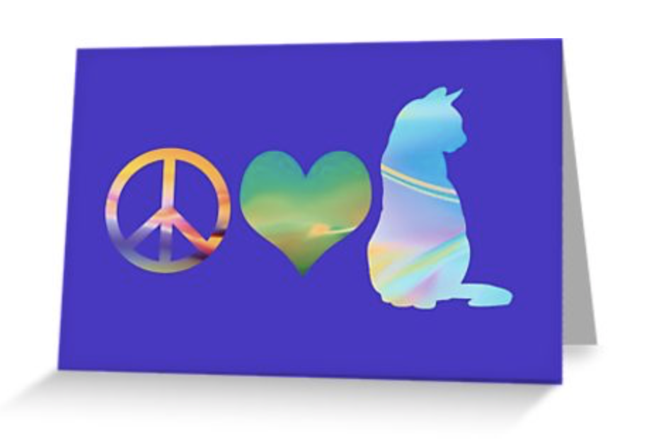 Peace Love & Cats Card