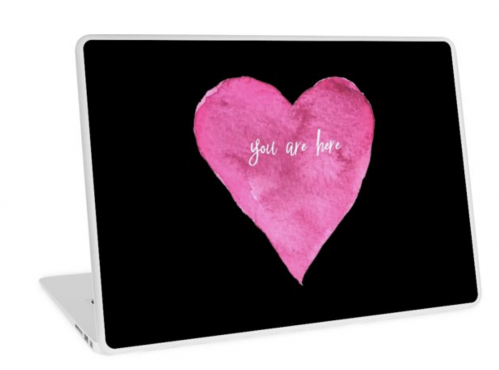 you are here women's laptop skin