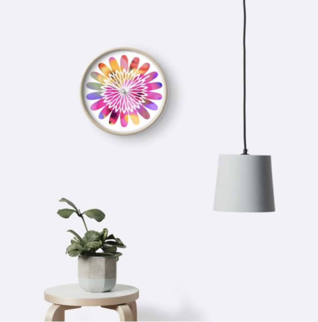 Flower Power Clock