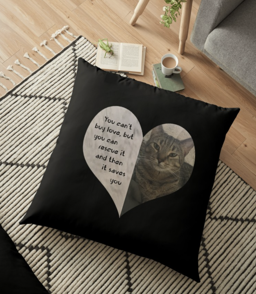 Rescue Love Floor Pillow