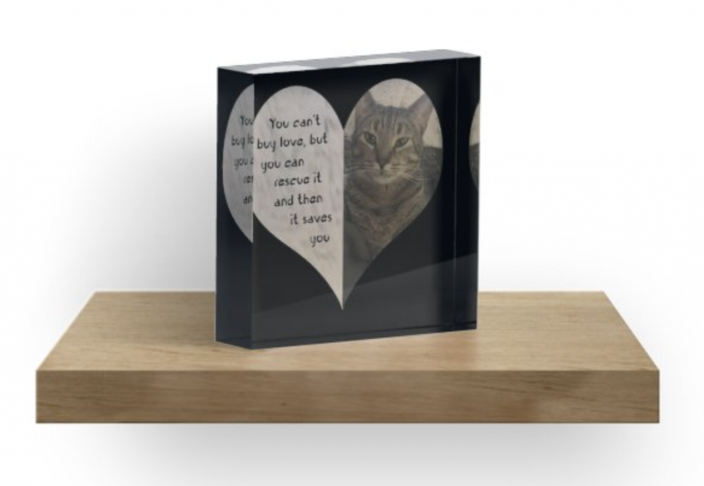 Rescue Love Acrylic Block