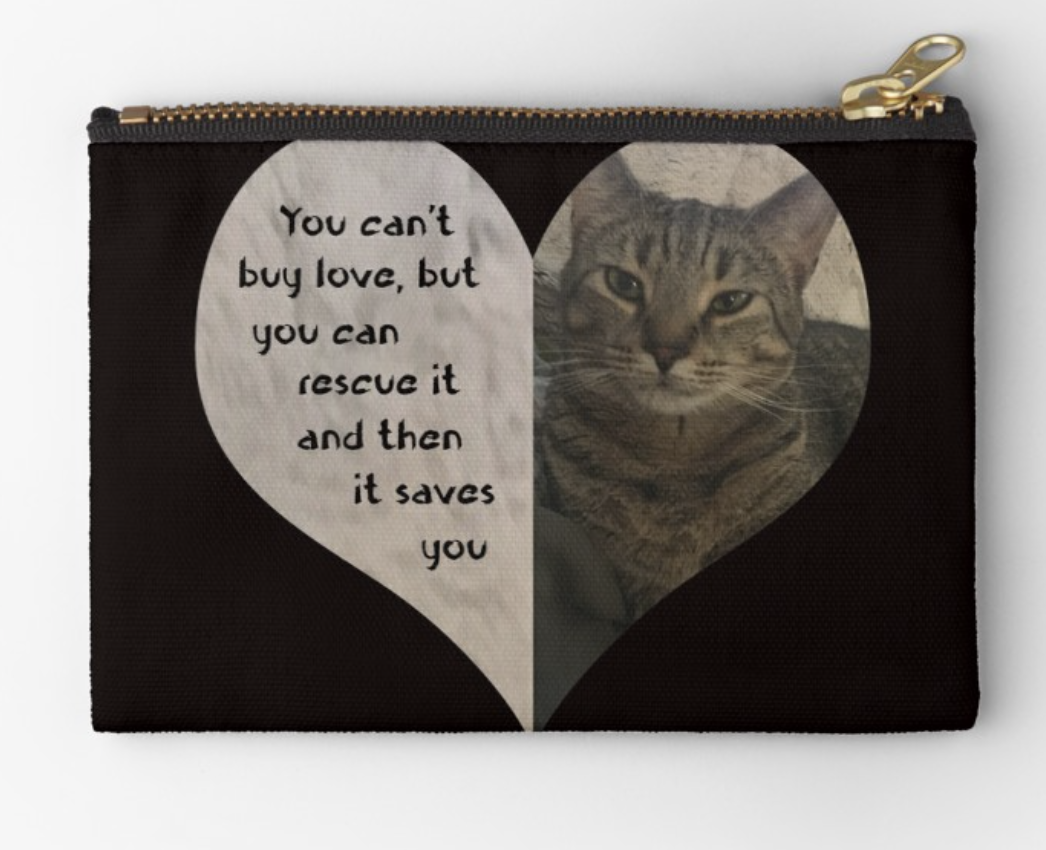 Rescue Love Zipper Pouch
