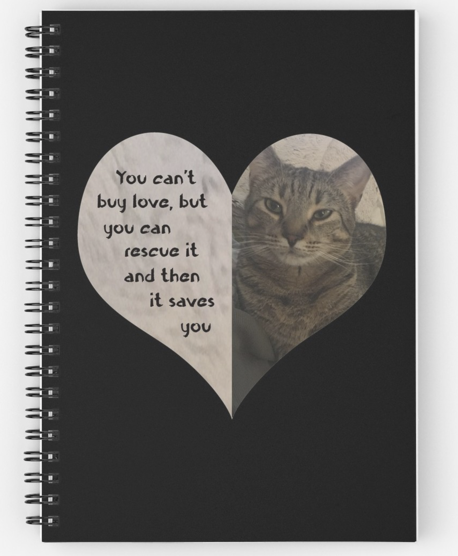 Rescue Love Spiral Notebook