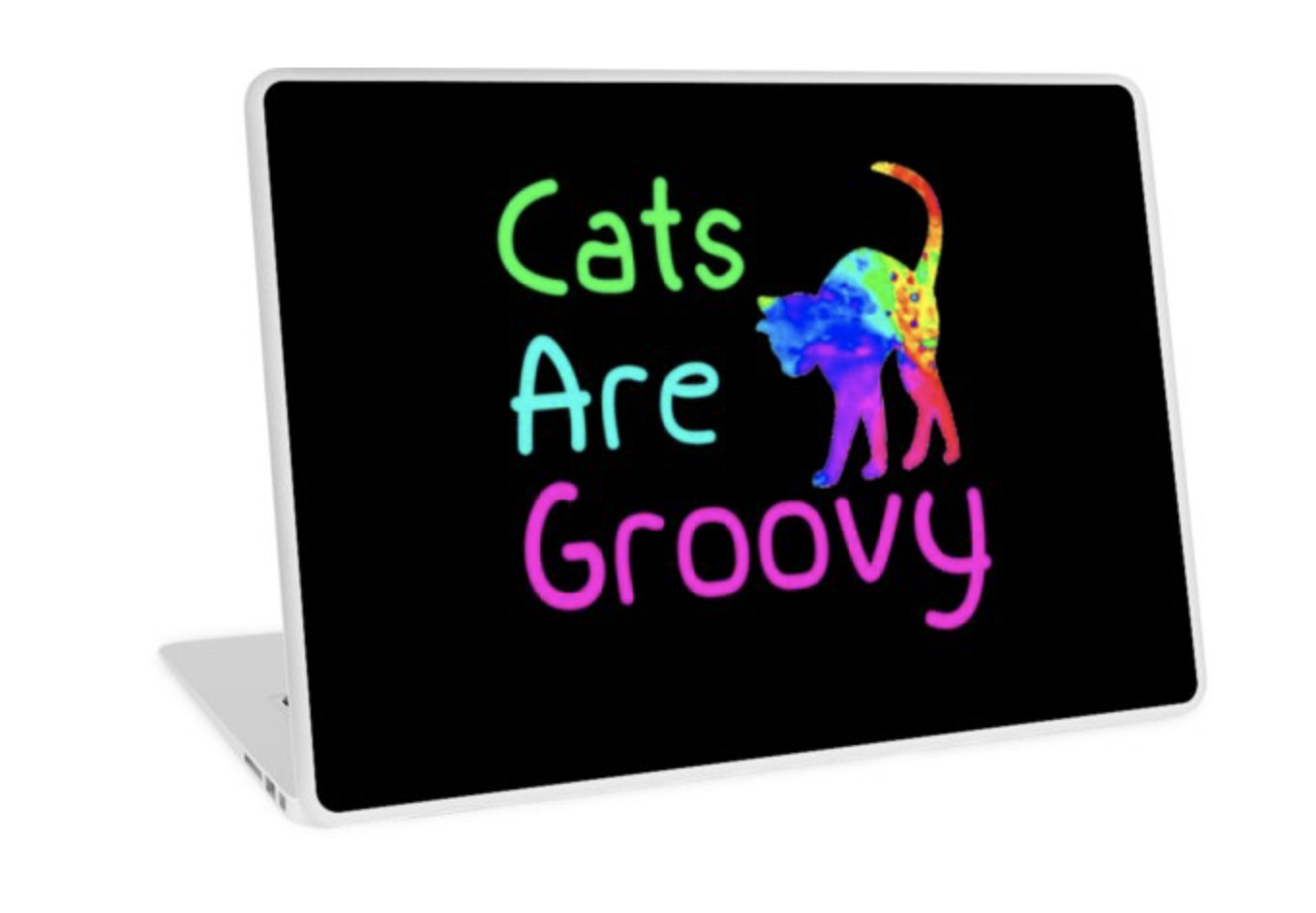 Cats are Groovy Laptop Skin
