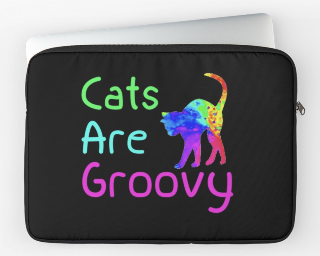 Cats are Groovy Laptop Sleeve