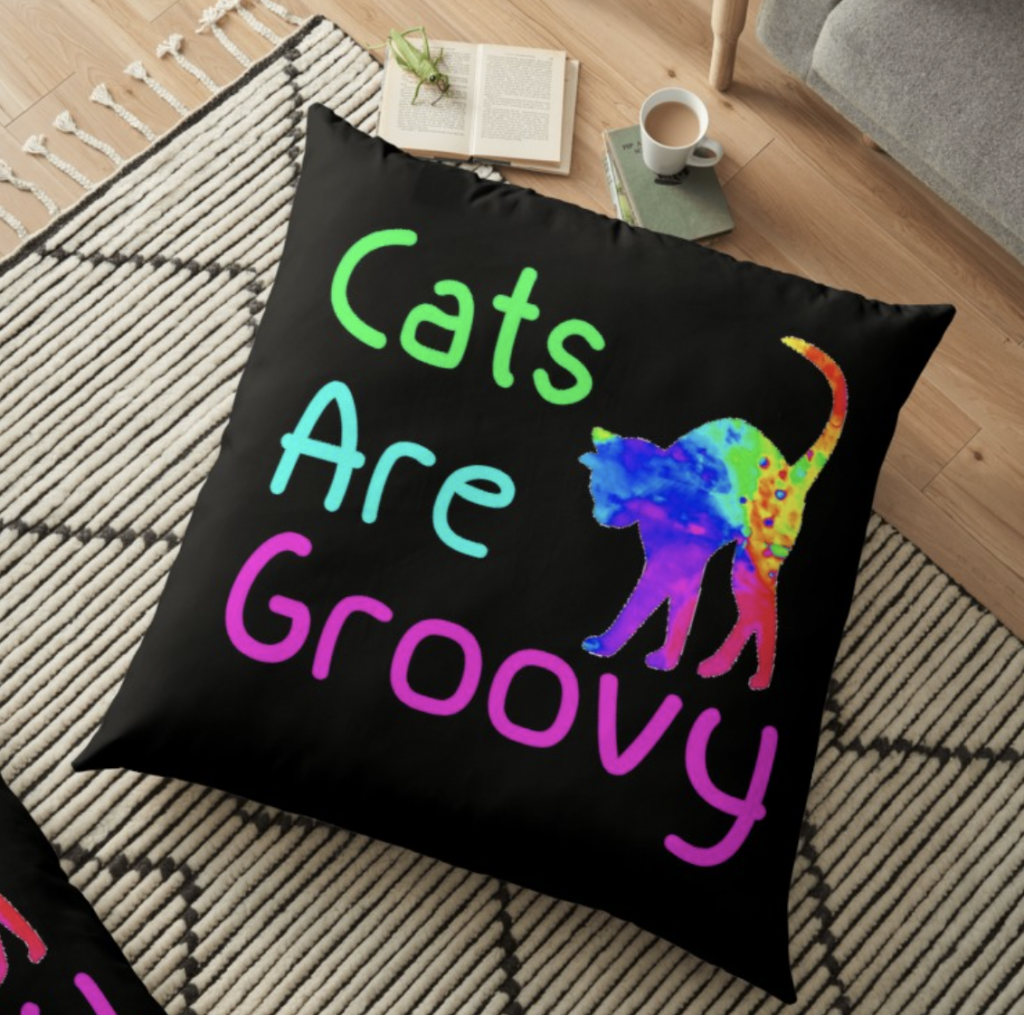Cats are Groovy Pillow