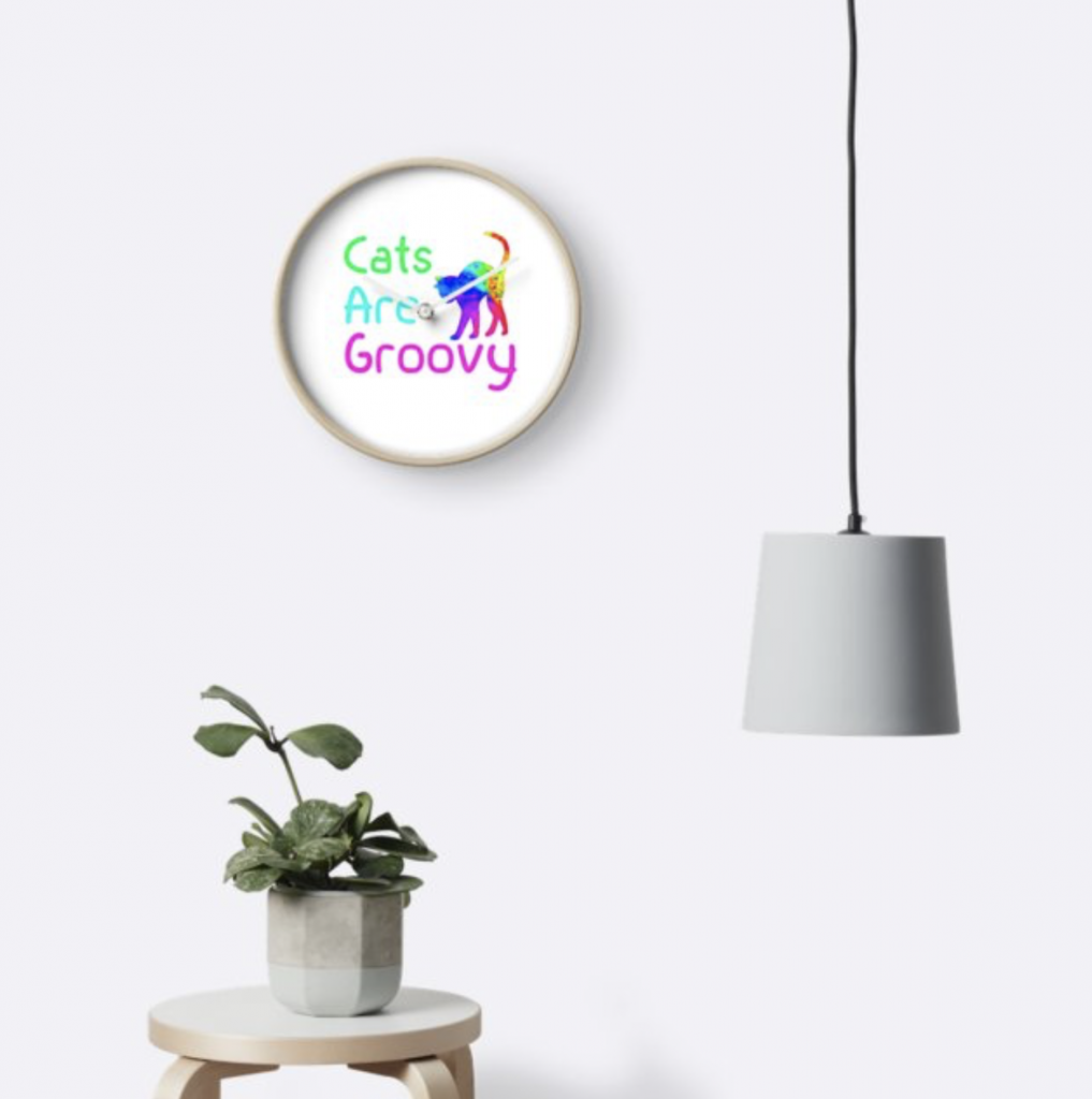 Cats are Groovy Clock