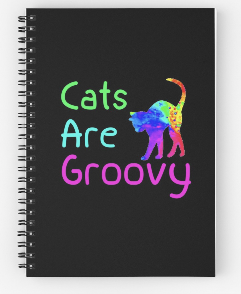Cats are Groovy Spiral Notebook