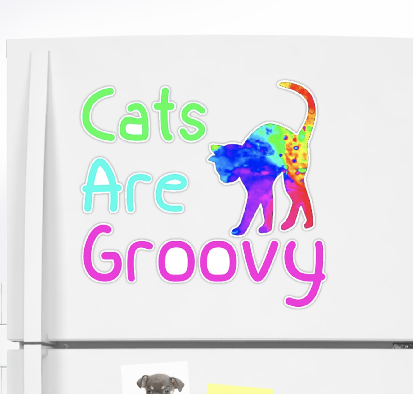 Cats are Groovy Sticker