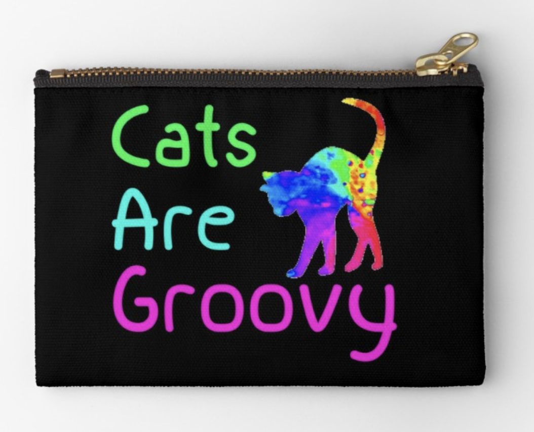 Cats are Groovy Pouch