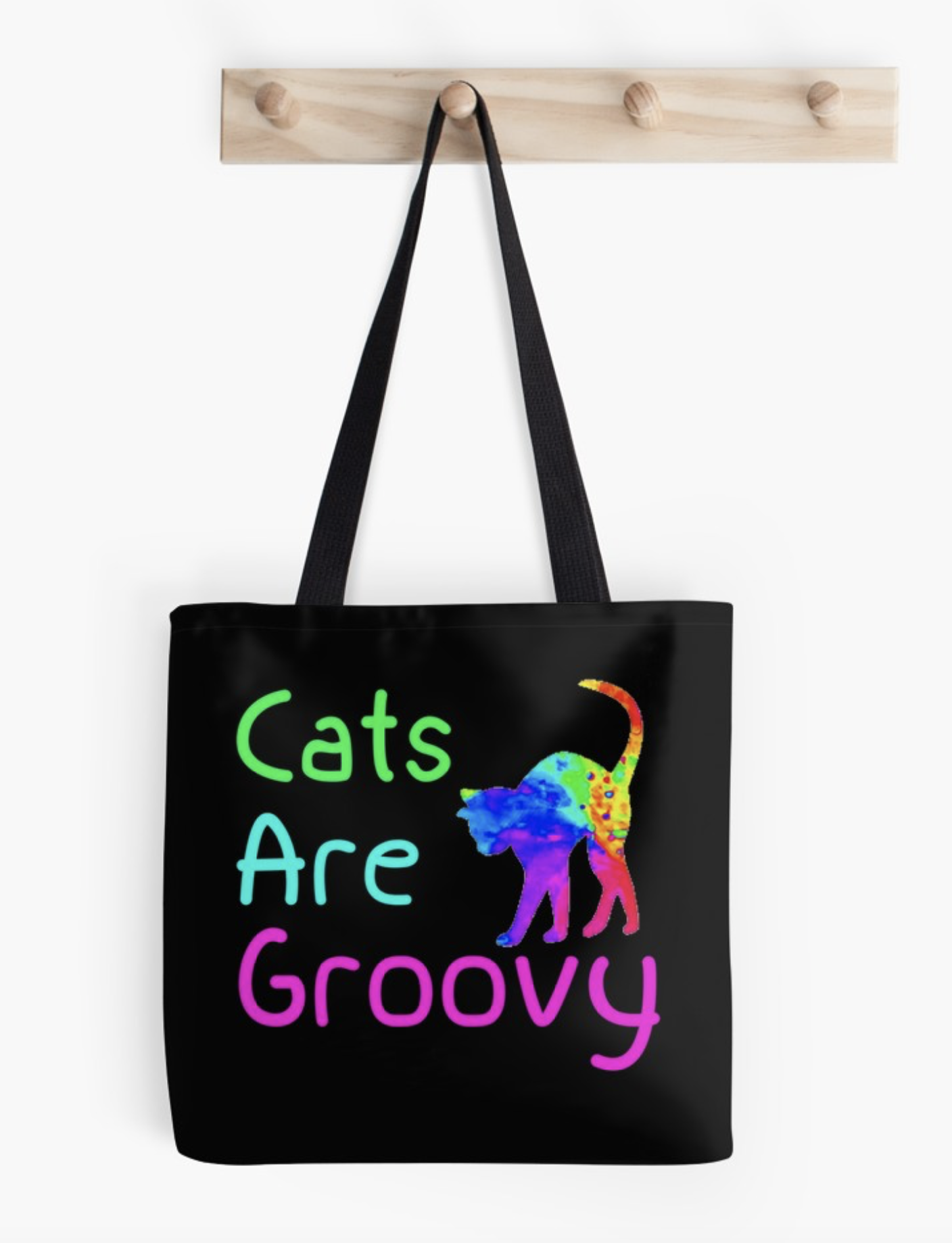 Cats are Groovy Tote
