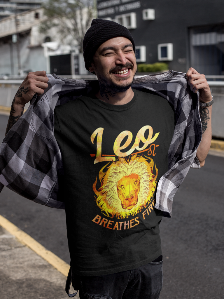 Leo Breathes Fire T-shirt
