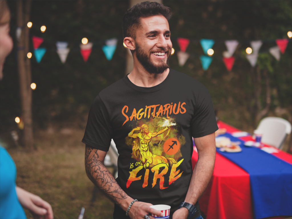 Sagittarius is on Fire T-shirt