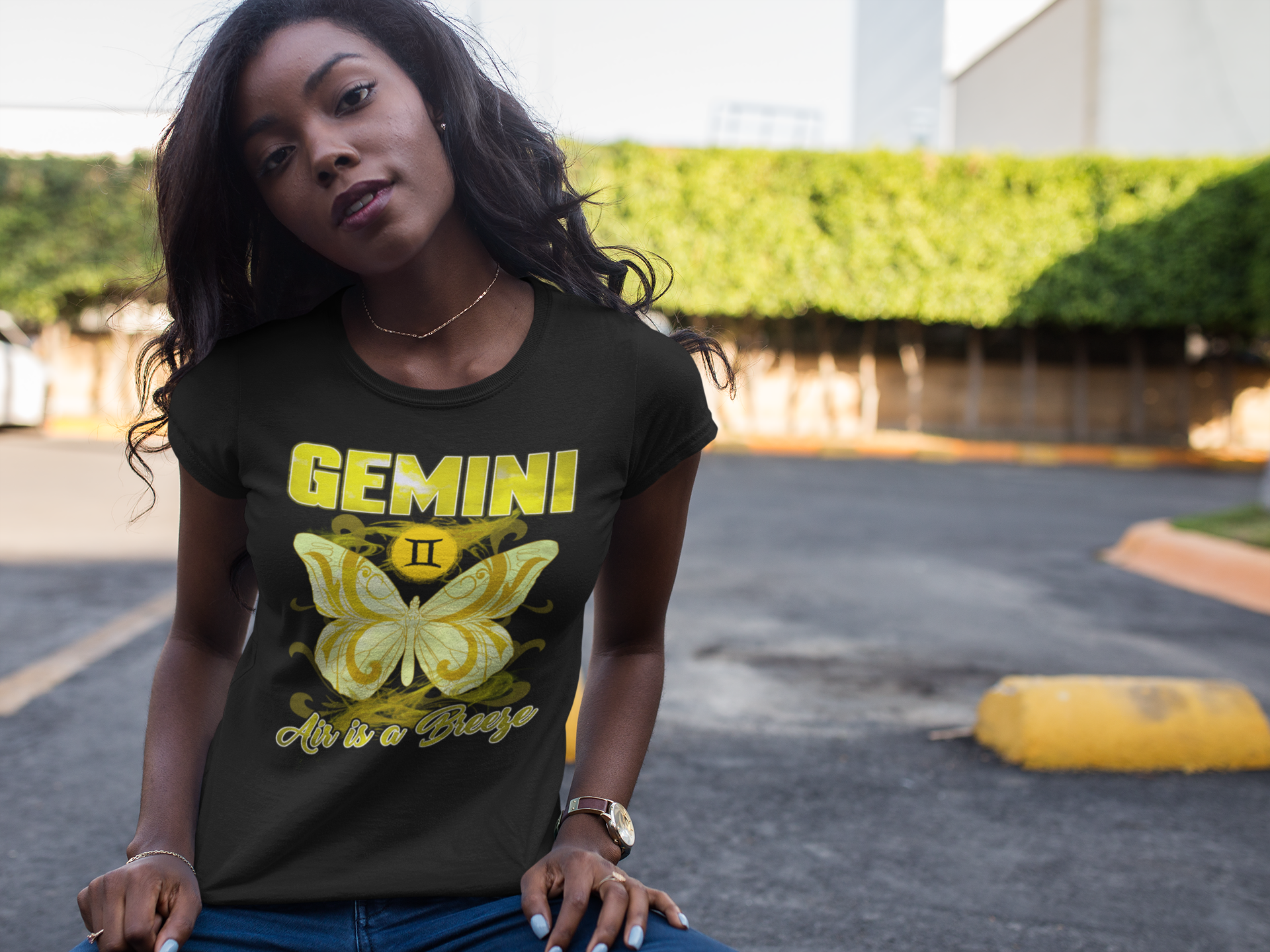 Gemini Air is a Breeze (with Butterfly) T-shirt