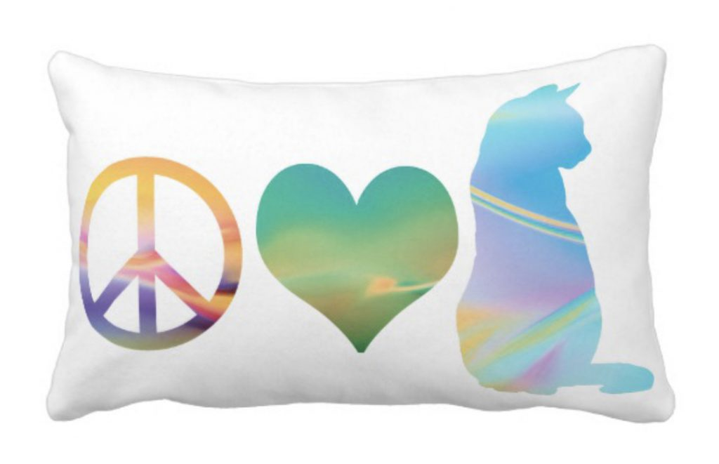Peace Love Cats Pillow