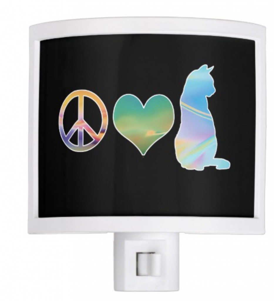 Peace, Love Cats Night Light
